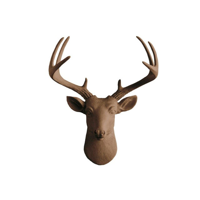 Wall Charmers Bronze Faux Taxidermy Mini Deer Head Mount - Image 5 of 5