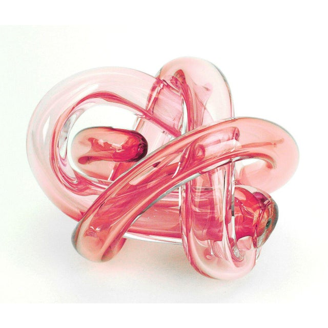Abstract SkLO Wrap Object Glass Knot - Red For Sale - Image 3 of 3