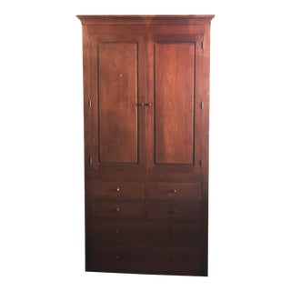 Shaker Harden Furniture Cherry Armoire For Sale
