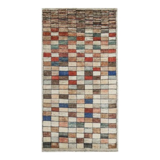 """Contemporary Hand Woven Rug - 3'4"""" X 6'4"""" For Sale"""