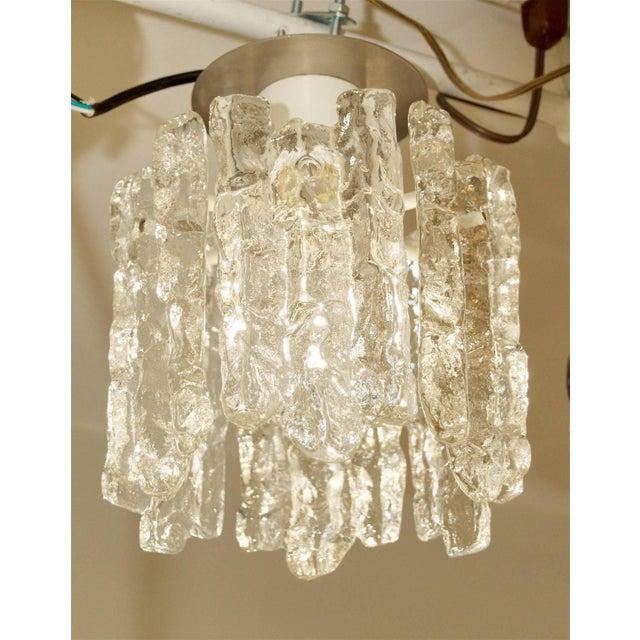 Kalmar Franken KGAustria, 1960sFantastic petite ice glass flush mounted pendant with six pieces of glass.Takes single...