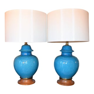 Hollywood Regency Italian Urn Lamps - a Pair