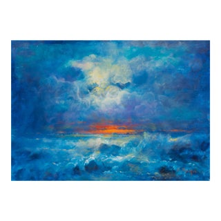 'San Francisco Sunset' by Victor Papkov, 1989; Impressionist Seascape For Sale