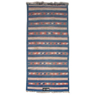 Vintage Flat-Weave Dhurrie For Sale