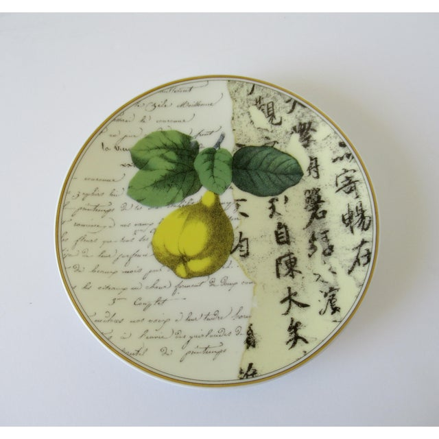"""Bernaradaud Limoges """"Peosie"""" Canapé Plates - Set of 6 For Sale In West Palm - Image 6 of 13"""