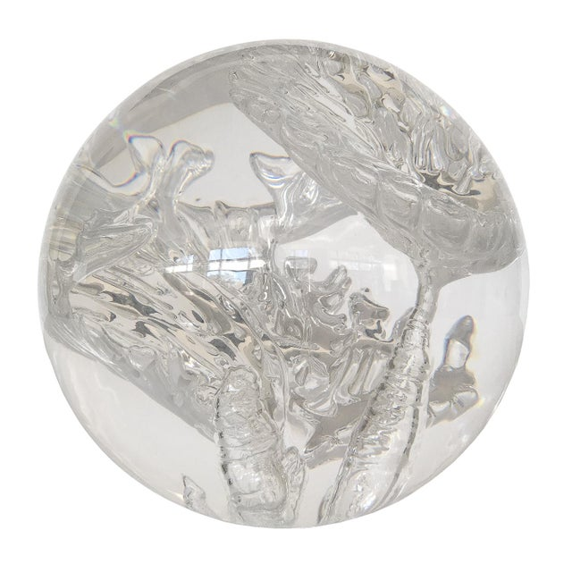 Suspended Bubble Inclusion Lucite Sphere Sculpture - Image 6 of 6
