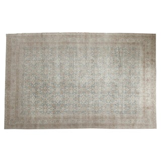 "Vintage Distressed Oushak Carpet - 5'10"" X 9'1"""