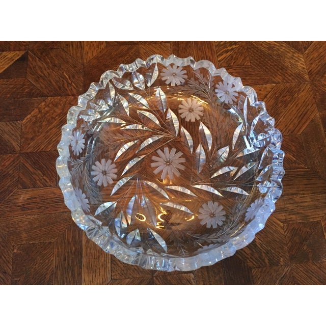 Decorative Cut Glass / Crystal Bowl - Image 6 of 6