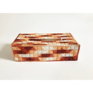 Vintage Woven Tissue Box Cover Preview