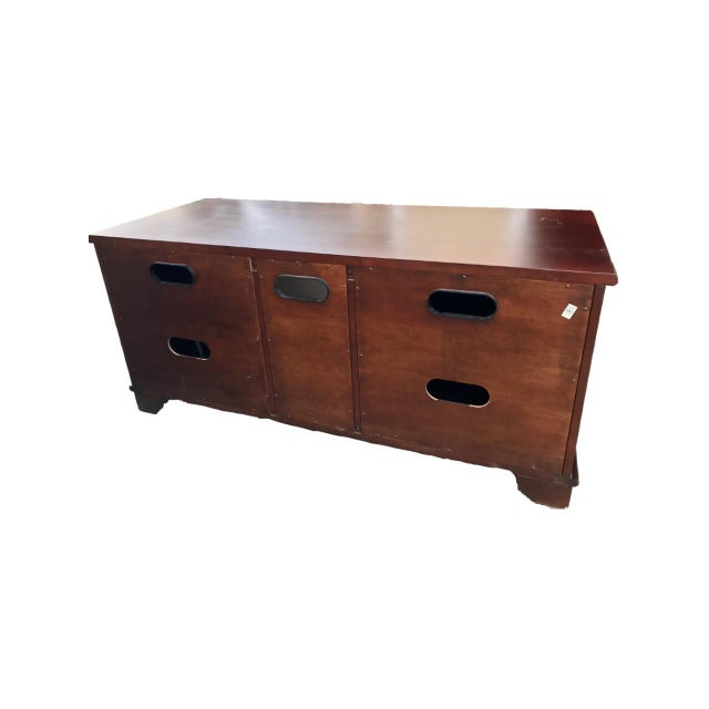 Solid Mahogany Contemporary Entertainment Console - Image 7 of 10