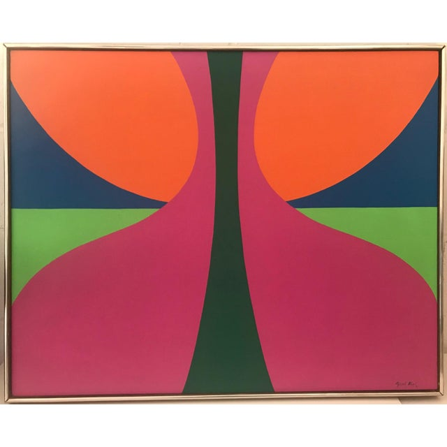 1960s Abstract Colorfield Painting For Sale In New York - Image 6 of 6
