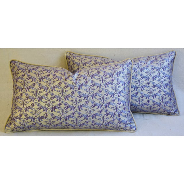 Designer Italian Mariano Fortuny Richelieu Feather/Down Pillows - a Pair - Image 2 of 11