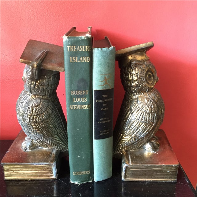 Colonial Virginia Brass Owl Bookends - Pair - Image 5 of 6