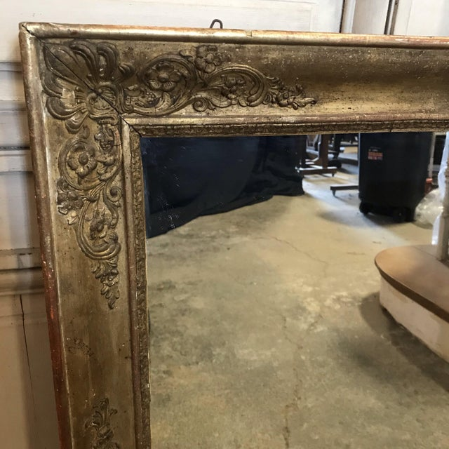 Wood Large 19th Century French Empire Giltwood Mirror For Sale - Image 7 of 11