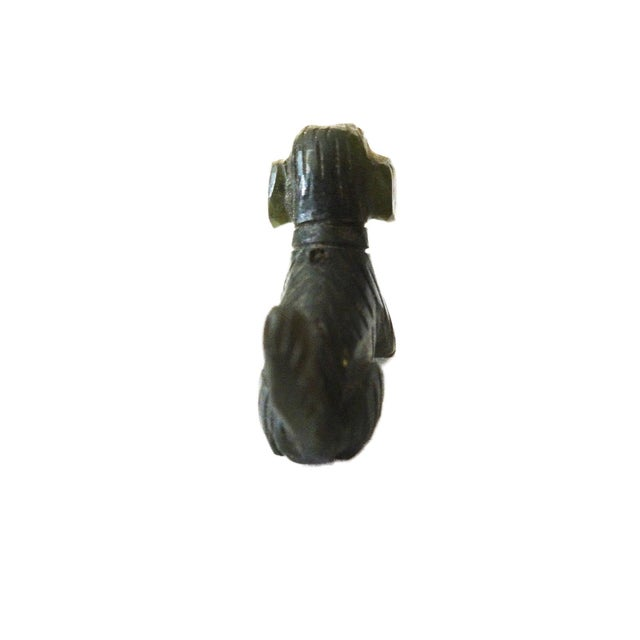 Vintage Miniature Jade Sculpture of a Dog circa 1950's For Sale - Image 4 of 6