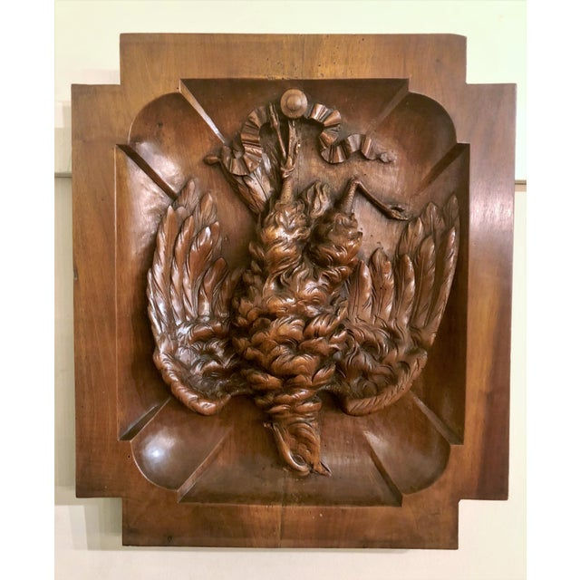 "Pair Antique Walnut ""Master Carvings"" Wall Plaques, Circa 1880."