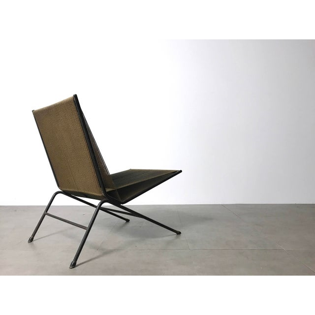 1950s Allan Gould String Lounge Chair & Ottoman 1952 For Sale - Image 5 of 11
