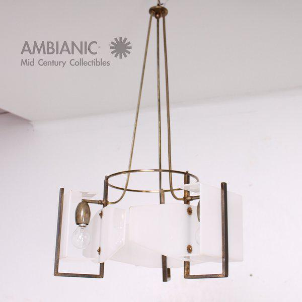 Italian Italian Modernist Chandelier For Sale - Image 3 of 8