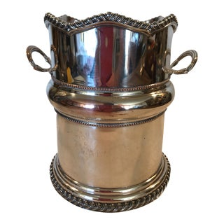 Silver Plate on Copper Wine Cooler For Sale
