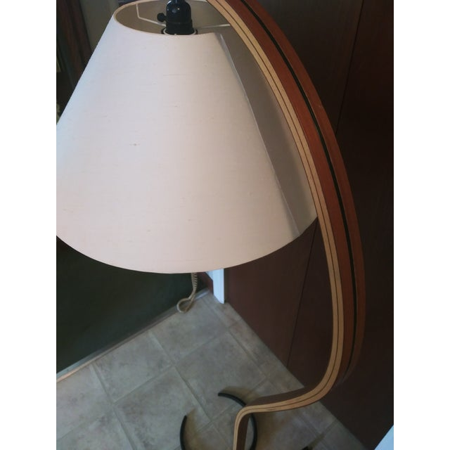 VIntage 1970s Danish Modern Mads Caprani Bent Teak Floor Lamp For Sale In Detroit - Image 6 of 13