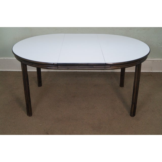 McGuire Vintage Bamboo Rattan Dining Table For Sale - Image 10 of 10