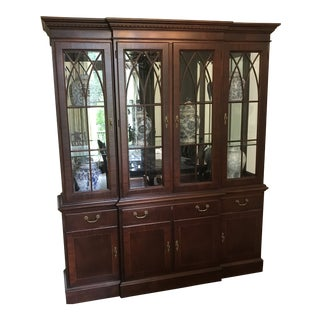 Federal Ethan Allen Mahogany Breakfront For Sale