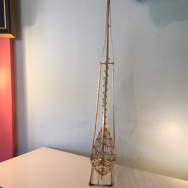 Beautiful brass sailboat sculpture by Curtis Jere.