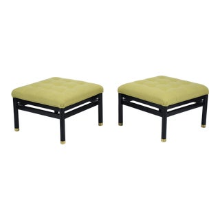 Pair of Mid-Century Tufted Benches For Sale
