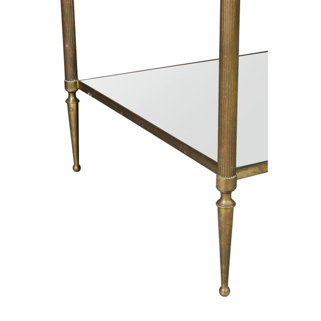 1950s Jansen Style Brass and Mirrored Coffee Table For Sale - Image 5 of 9