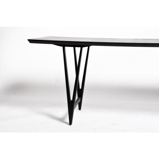 Mid Century Modern Painted Black Teakwood Coffee Table For Sale - Image 9 of 13