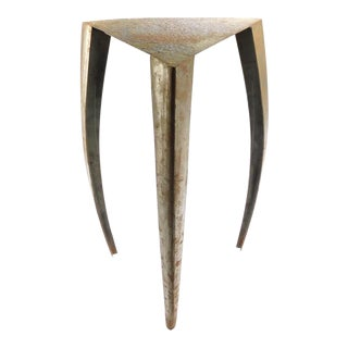 Vintage Mid-Century Modern Artisan Hand Crafted Triangle Sabre Leg End Table For Sale