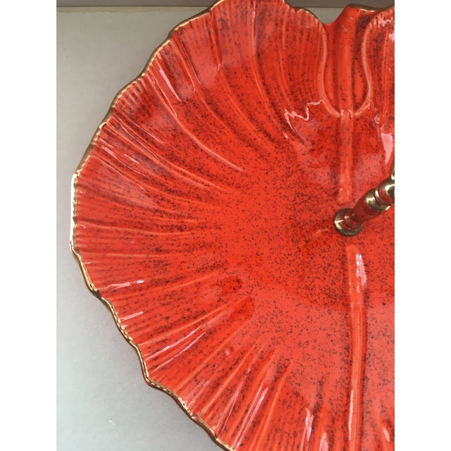 Mid-Century Modern Vintage Mid-Century Modern California Pottery Centerpiece Serving Tray For Sale - Image 3 of 7