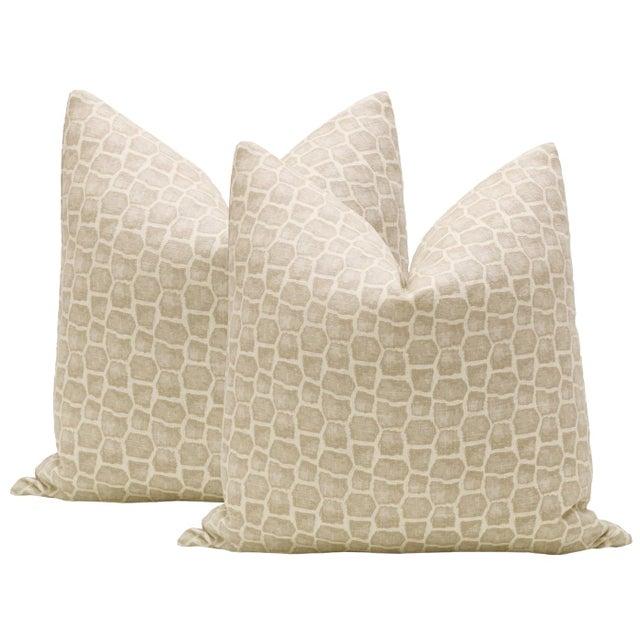 "22"" Safari Print Pillows - a Pair For Sale - Image 4 of 4"