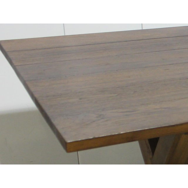Custom X Base Mahogany Dining Table For Sale - Image 10 of 12