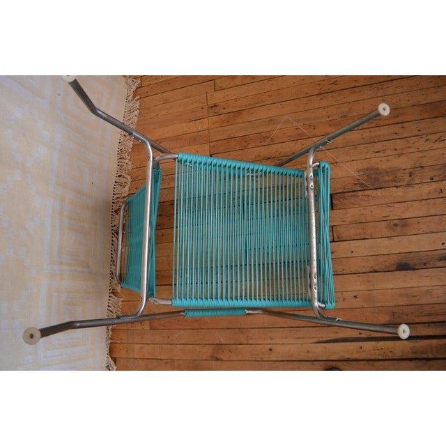 Patio Furniture by Surf Line, 2 Lounge Chairs, 1 Chaise in Stainless and Aqua For Sale - Image 10 of 13