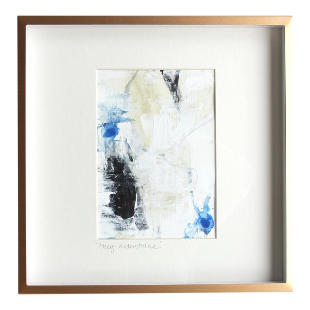 Abstract They Disentwine Framed Painting - Image 1 of 6
