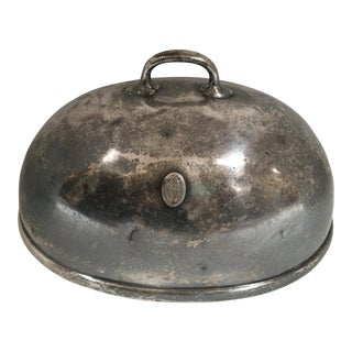 1900s British Silver Cloche Dome Platter Cover For Sale