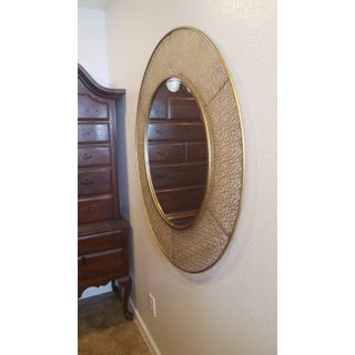 1950s Vintage Brass Wall Mirror Preview