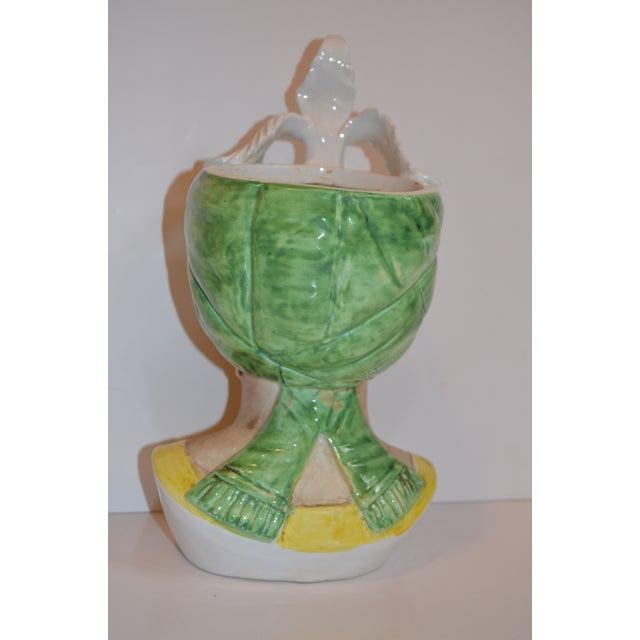 1960s 1960s Vintage Italian Majolica Goddess Bust Planter For Sale - Image 5 of 8