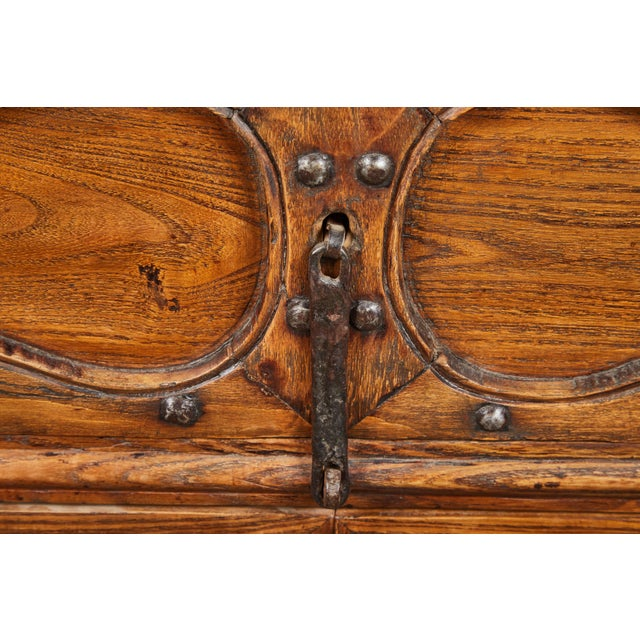 19th C. Chinese Elm Altar Cabinet For Sale - Image 10 of 11