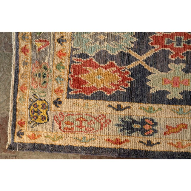 "Boho Chic Modern Turkish 'Miquel' Oushak Rug- 5'7"" x 7' 6"" For Sale - Image 3 of 9"