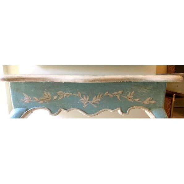 19th C. Louis XV Painted Console