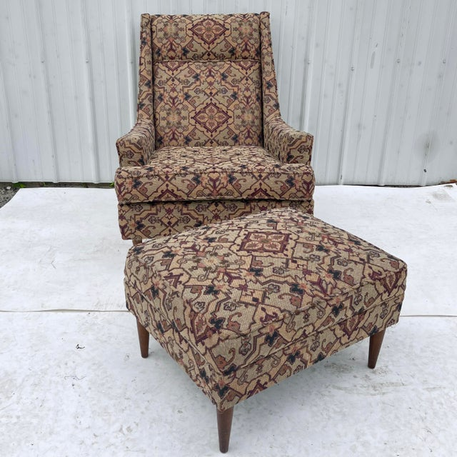 Paul McCobb Mid-Century Modern Lounge Chair With Ottoman For Sale - Image 4 of 13