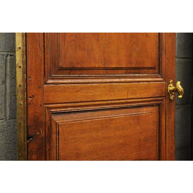 Brown 19th Century French Louis XVI Oak Interior Double Doors - Set of 2 For Sale - Image 8 of 13
