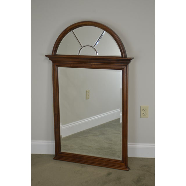 Brown Lexington Cherry Arch Top Beveled Mirror For Sale - Image 8 of 13