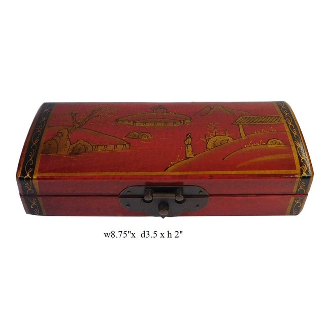 Chinese Oriental Red Rectangular Box For Sale In San Francisco - Image 6 of 6