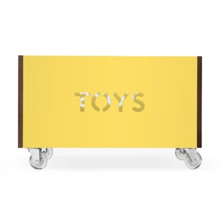 Toy Box Chest on Casters in Walnut With Yellow Finish Preview
