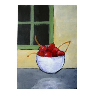 Red Cherries Oil Painting For Sale