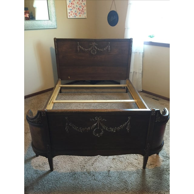 Sligh Vintage Sleigh Full Bed Frame - Image 2 of 11