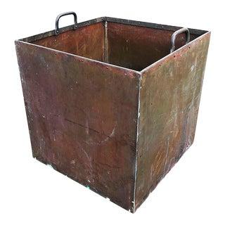 Antique Solid Copper Planter For Sale